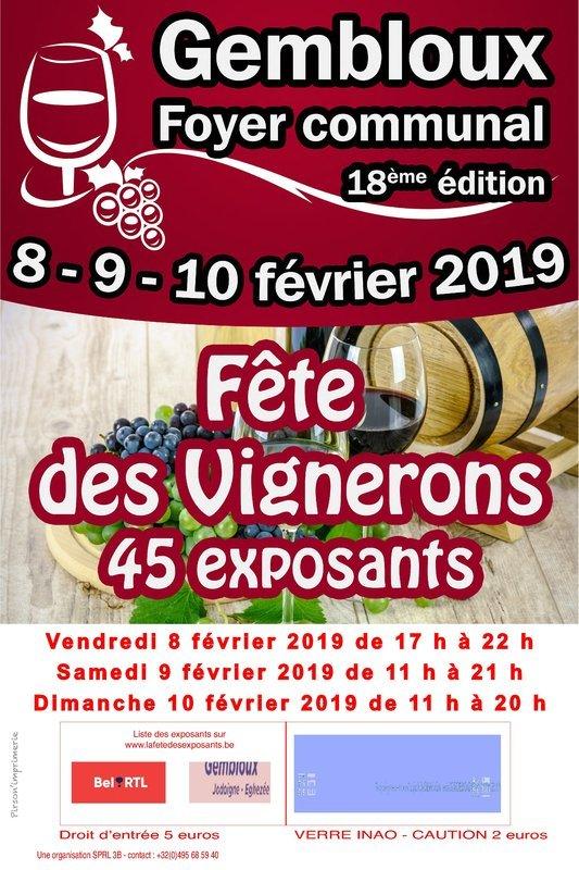 Fete Des Vignerons Gembloux Flyer