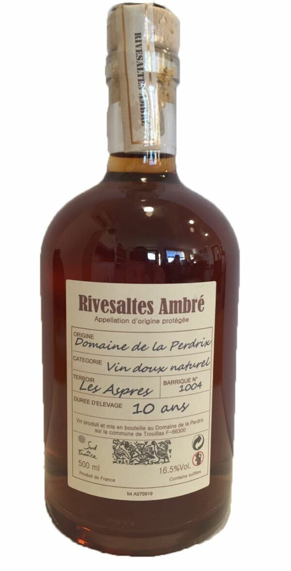 Rivesaltes Ambré Collection 2013 Détouré